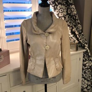 Danier ~ Leather Blazer Cream